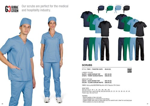 Doctors will be wearing scrubs